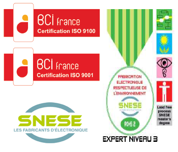Certification ISO 9100 + 9001
